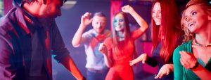 Dancing beside the DJ at a John Godber Centre disco