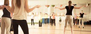 Dance class at the John Godber Centre