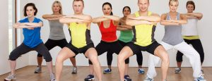 Exercise class at the John Godber Centre