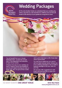 The John Godber Centre Wedding Brochure