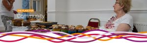 Refreshments at the monthly Hucknall Jumble Sale at the John Godber Centre