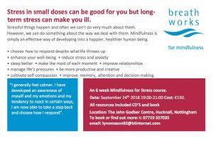 Mindfulness course leaflet back