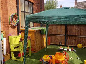 Tiny Tots outdoor play area at the John Godber Centre