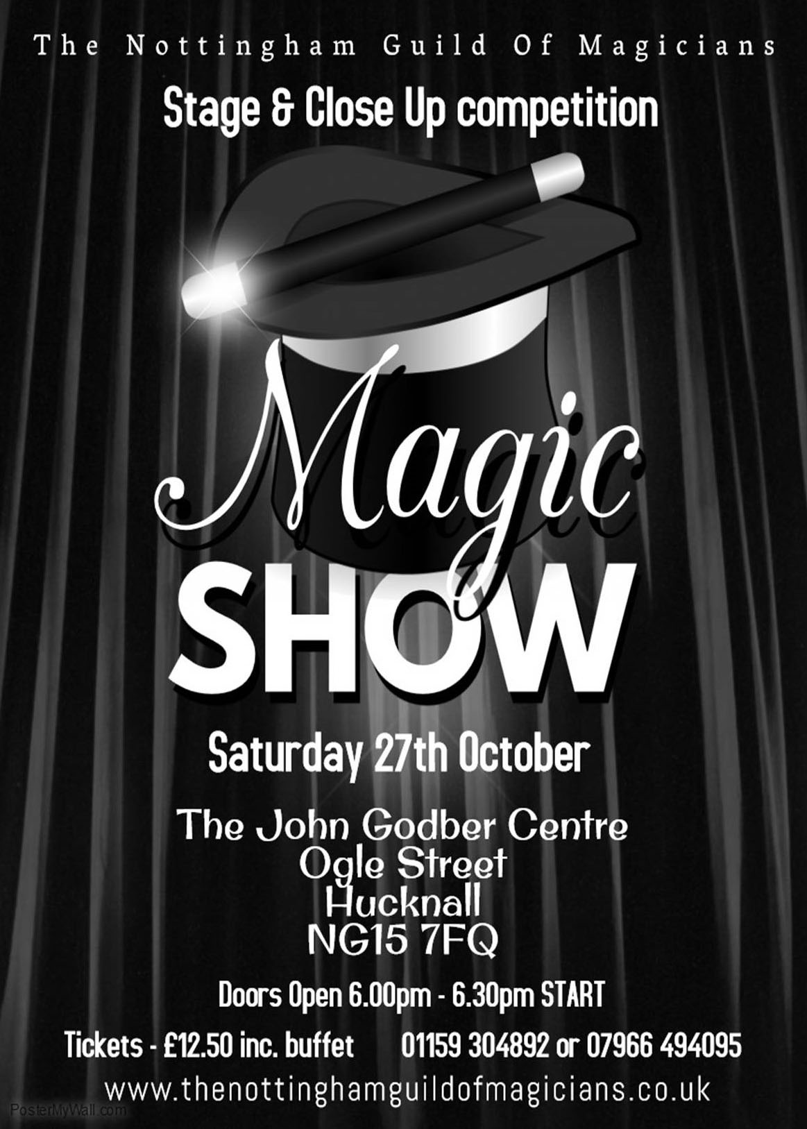 The Nottingham Guild of Magicians' Magic Show poster