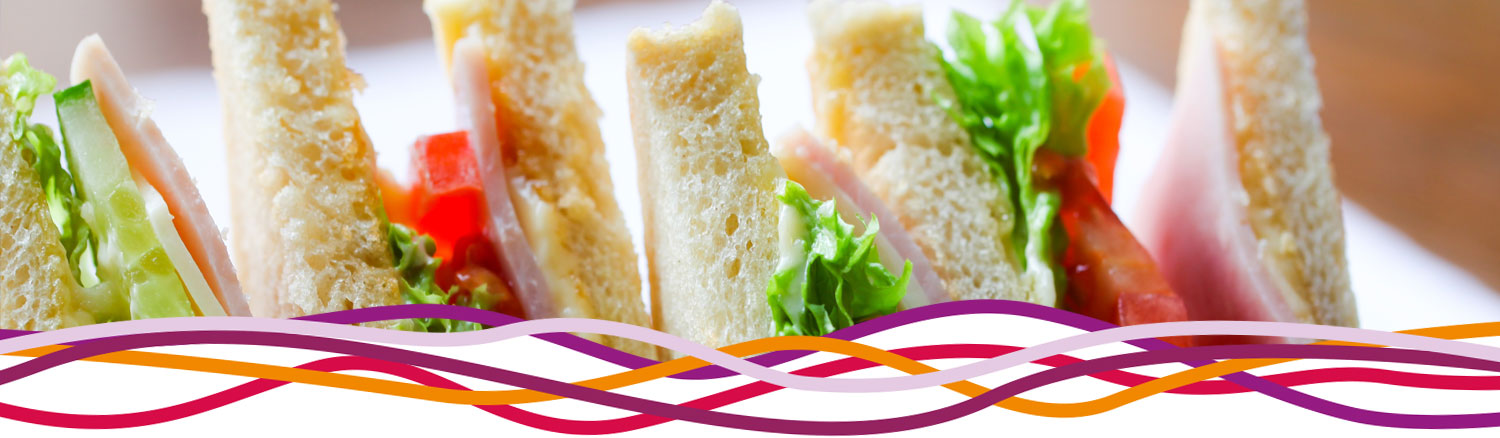 Sandwiches for a celebration party at the John Godber Centre, Hucknall, Nottinghamshire