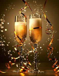 Champagne celebration at the John Godber Centre, Hucknall