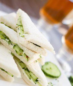Afternoon Tea sandwiches at the John Godber Centre, Hucknall, Notts