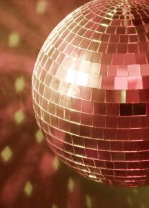 Glitter Ball for a celebration party at the John Godber Centre, Hucknall