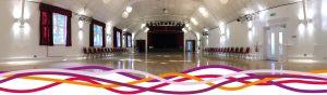 The Main Hall event space at the John Godber Centre, Hucknall, Nottinghamshire