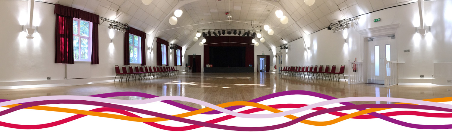 The Main Hall event space at the John Godber Centre, Hucknall, Nottinghamshire