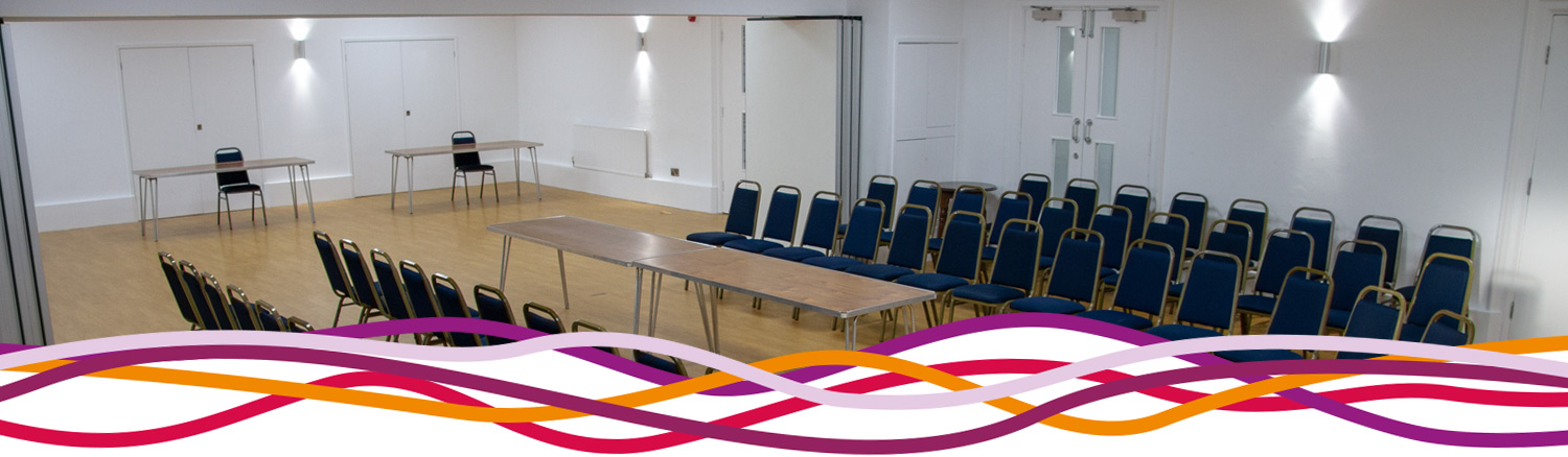The Byron room and Studio combined to make The Suite at the John Godber Centre, Hucknall, Notts
