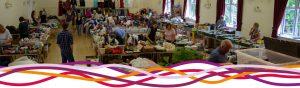 The Hucknall Community Jumble Sale in the Portland room (main hall) at the John Godber Centre, Hucknall