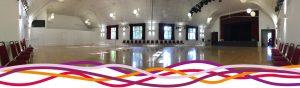 The Portland room (main hall) at the John Godber Centre, Hucknall