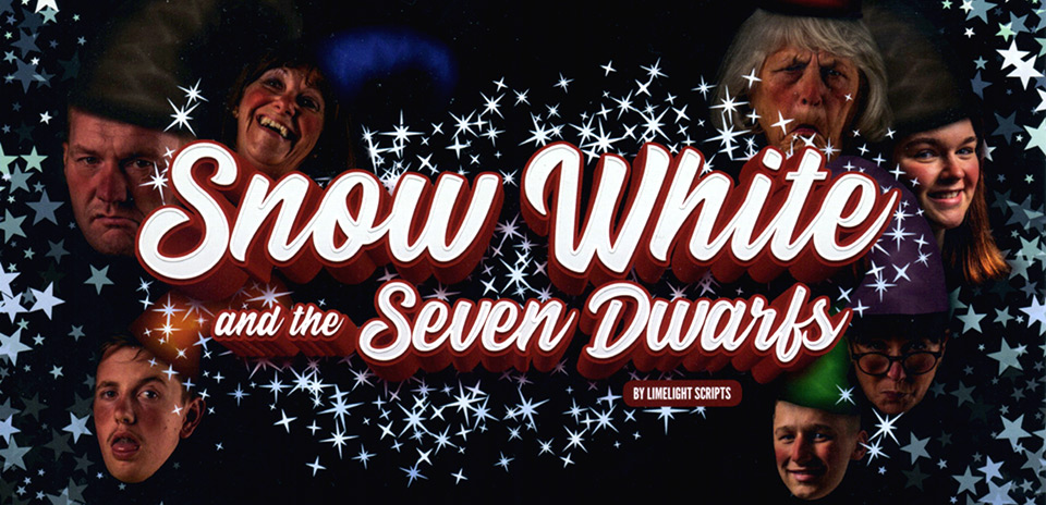 Snow White and the Seven Dwarfs pantomime flyer
