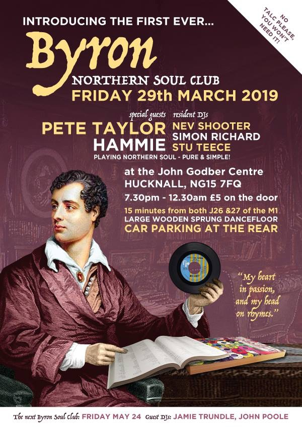 Byron Northern Soul Club poster