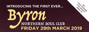 Byron Northern Soul Club poster header