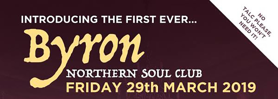 Byron Northern Soul Club poster header