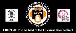 CAMRA Champion Beer of Nottingham 2019 poster header