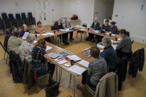 District Church Council meeting in the Byron room at the John Godber Centre, Hucknall
