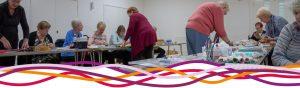 Hucknall community craft group in The Studio at the John Godber Centre, Hucknall