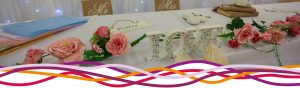 Top table wedding reception decoration
