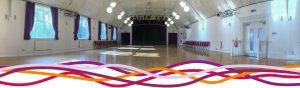 The Portland room (main hall) event space at the John Godber Centre, Hucknall, Nottinghamshire