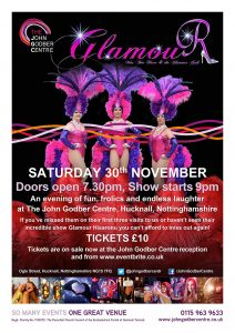Miss Bee Have and the Glamour Girls event poster November 2019