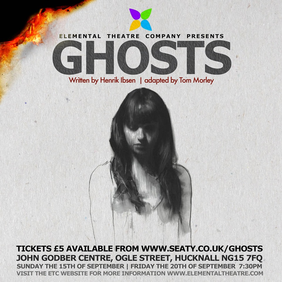 Elemental Theatre Company 'Ghosts' event poster 2019
