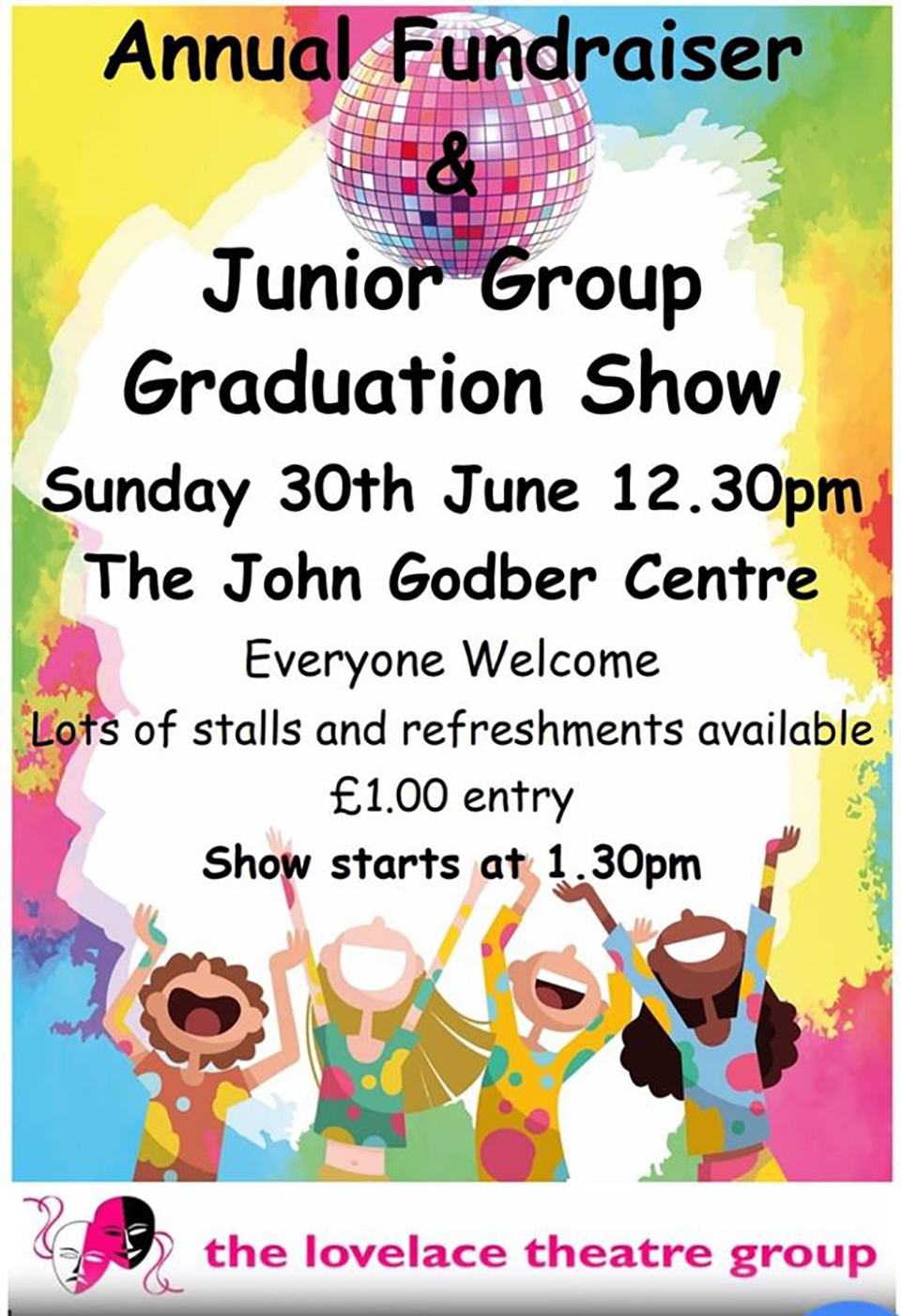 Lovelace Theatre Group Junior Group Graduation Show poster 2019
