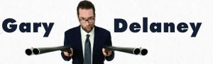Comedian, Gary Delaney, event poster