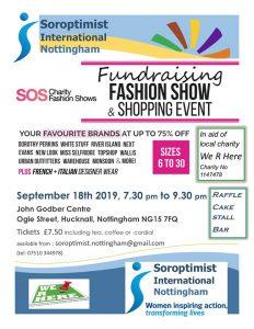 Soroptimist International Nottingham fundraising fashion show poster