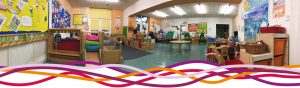 The Kempe activity room set up for Tiny Tots pre-school