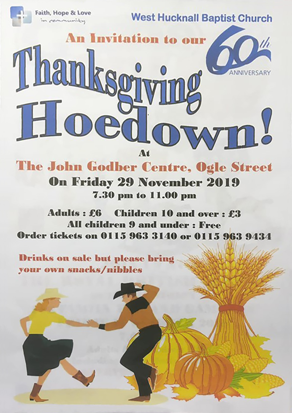 West Hucknall Baptist Church Thanksgiving Hoedown