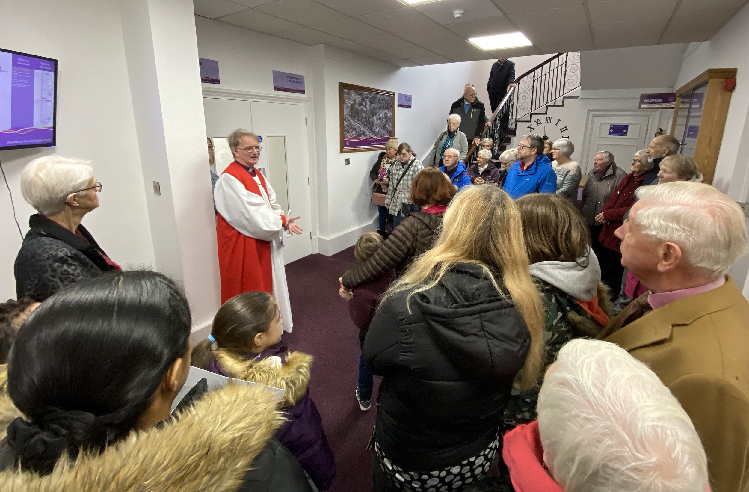 Bishop Tony Porter blessing Centre refurbishments