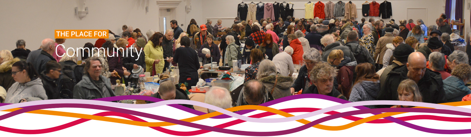 The monthly Hucknall Jumble Sale at the John Godber Centre, Hucknall, Nottinghamshire