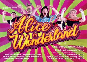 Lovelace Theatre Group - Alice in Wonderland 2020 panto poster