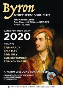 Byron Northern Soul Club event dates 2020