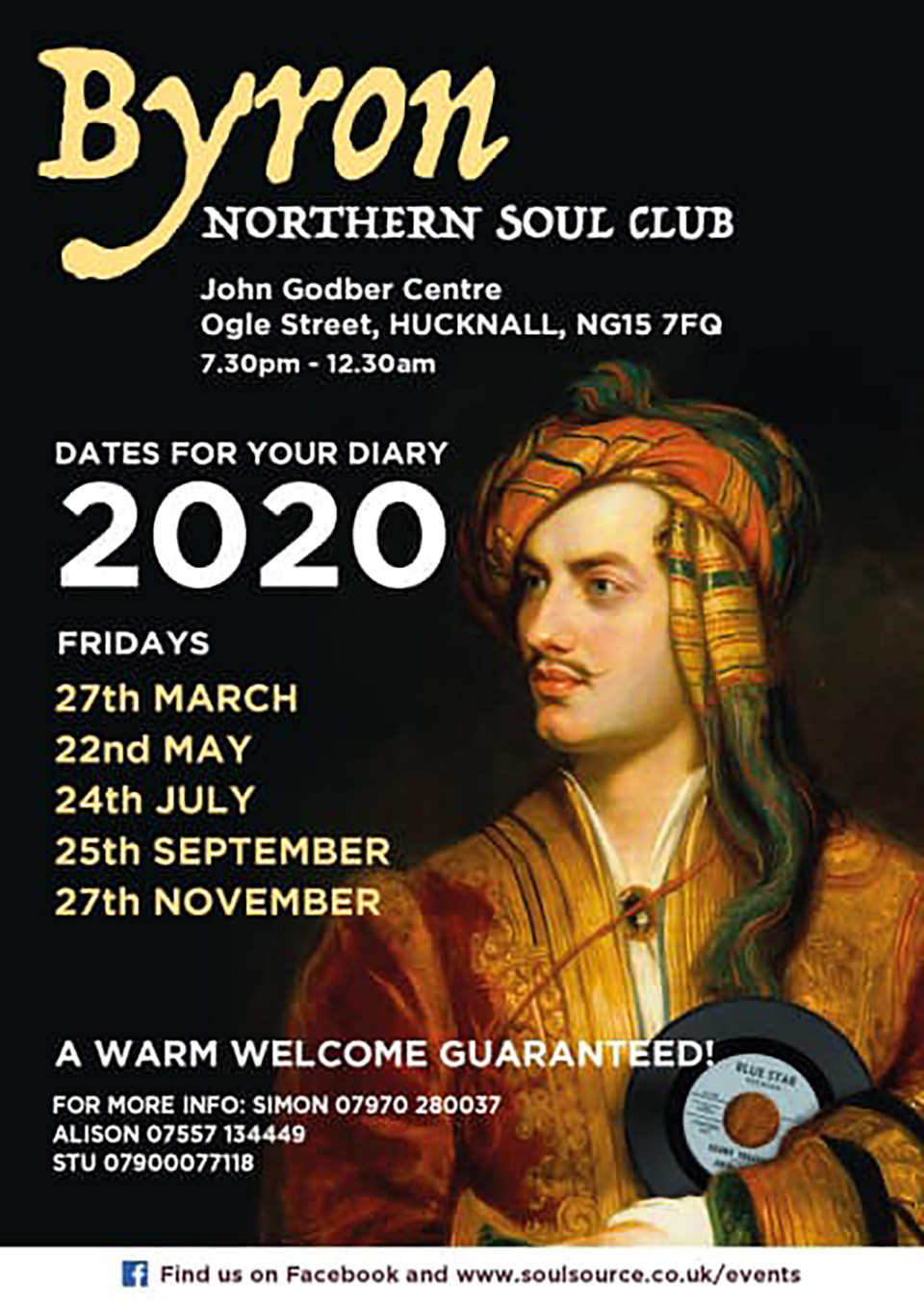 Byron Northern Soul Club event dates 2020