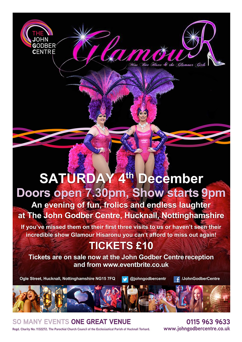 Miss Bee Have and the Glamour Girls event poster March 2021
