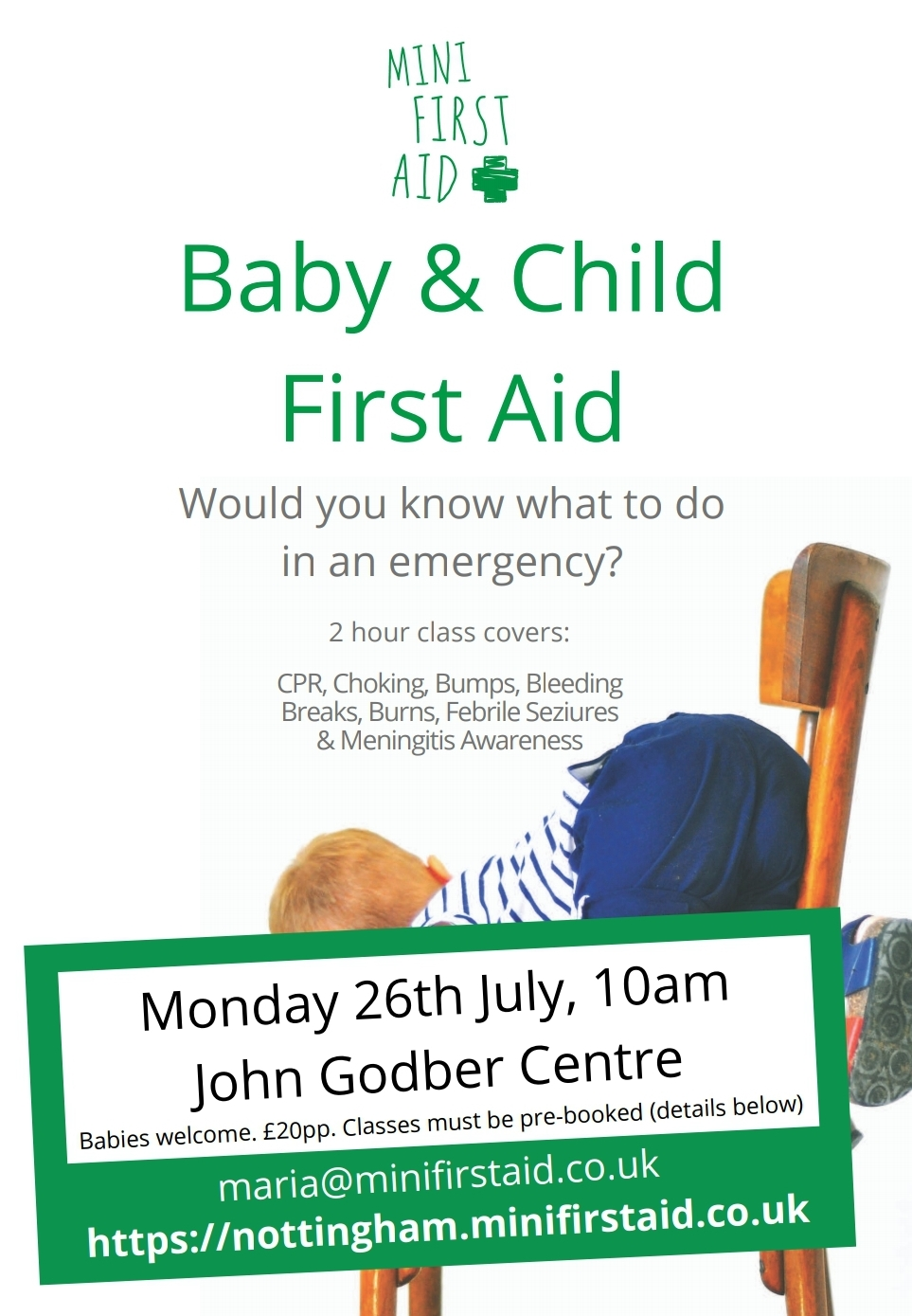 First Aid Course, Baby First Aid